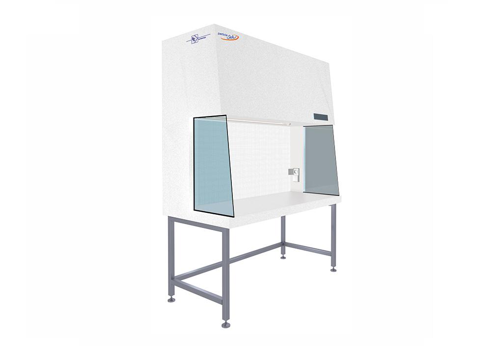 Reinraum-Arbeitsplatz mit horizontaler Luftströmung