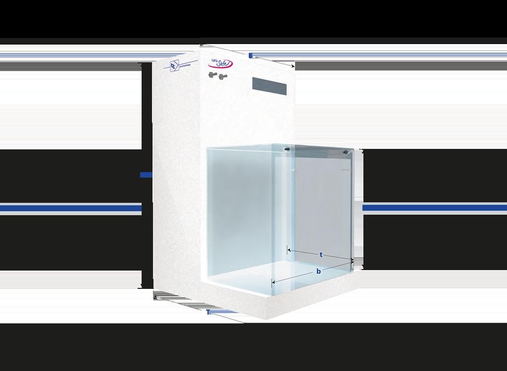 Kompakte, portable Flowbox für partikelsensible Arbeiten