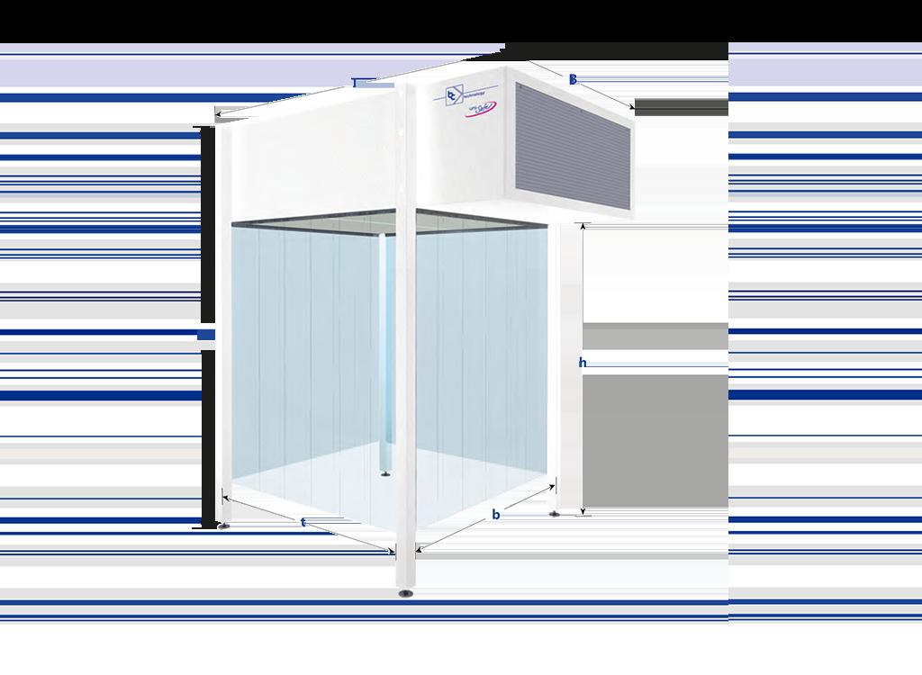 Reinraummodul, modular erweiterbar