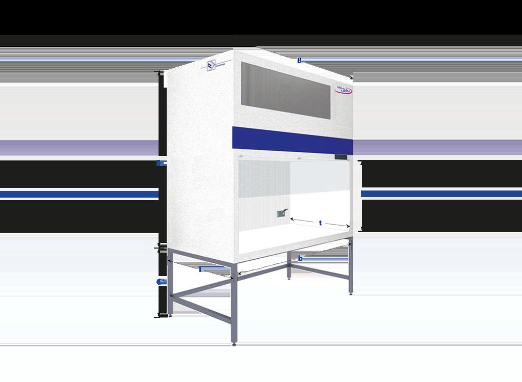 Flowbox mit vertikalem Luftstrom