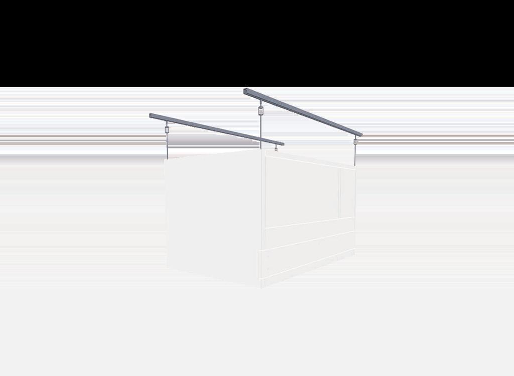 Deckenabhängung für Reinraummodul Typ: bc-us-vu