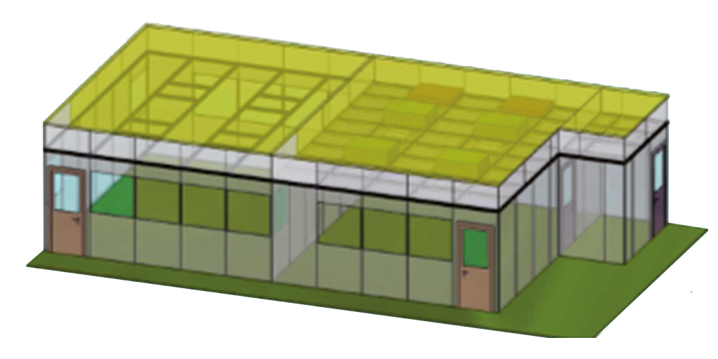 Reinraumsystem in Ausbaustufe 8 von 10