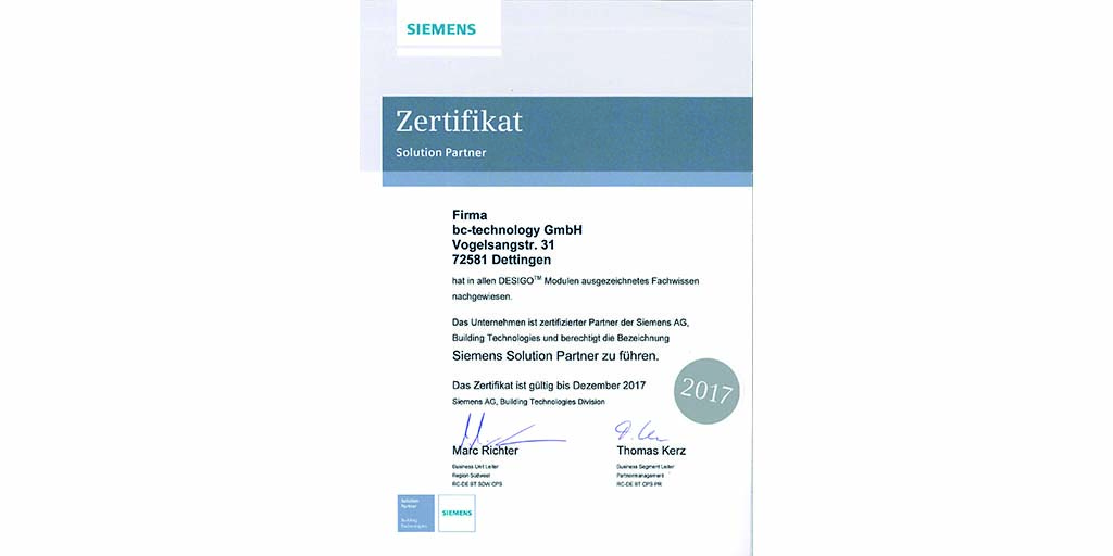 bc-technology ist Siemens-Solution-Partner